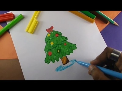 How to draw a christmas tree | Kids drawing practice