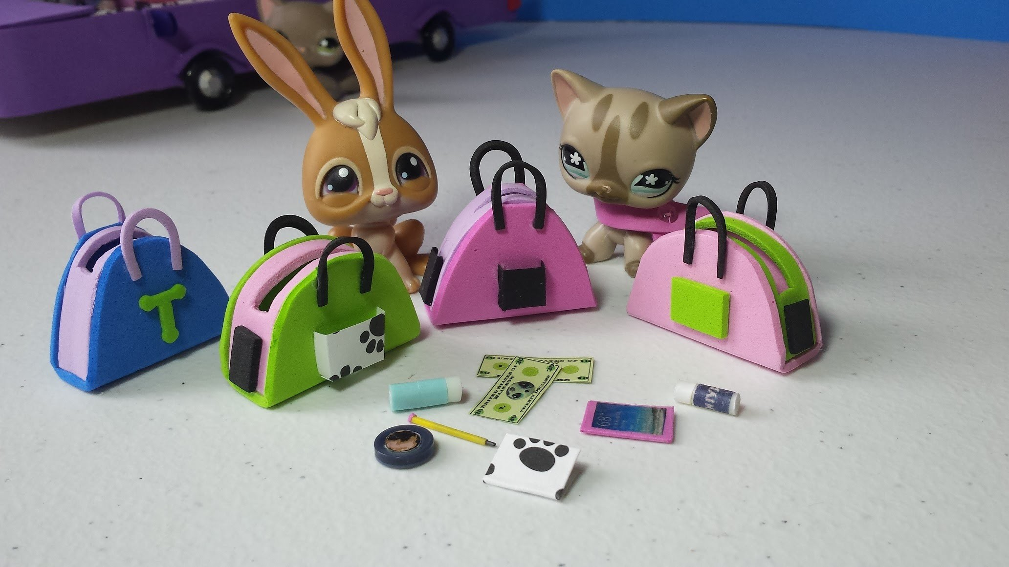How to Make LPS Purses Handbags Plus Accessories: Doll DIY