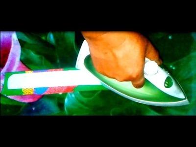 ➍ Marking, Cutting, Pressing & Sewing Neck Collar - ★★Kurti.Kameez with Chinese Collar★★ PUNJABI