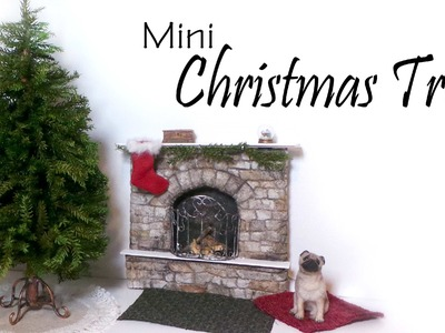 Miniature Christmas Tree Tutorial (+Stand & Skirt) - Dolls.Dollhouse