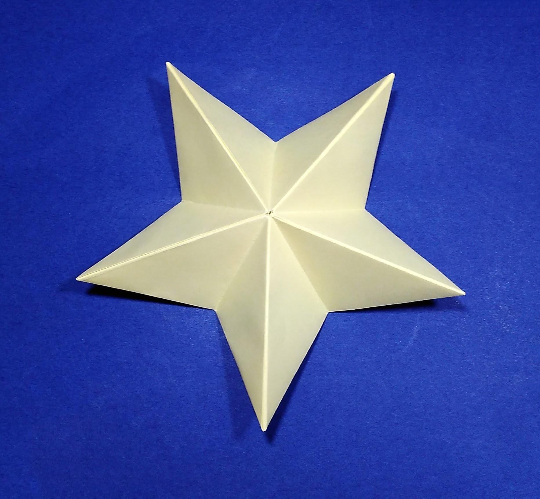 Origami Christmas Star. Easy paper star.