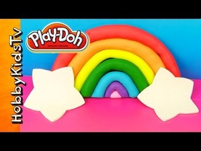 PLAY-DOH Rainbow  Stars DIY Bad Piggies Help Make a Rainbow by HobbyKidsTv