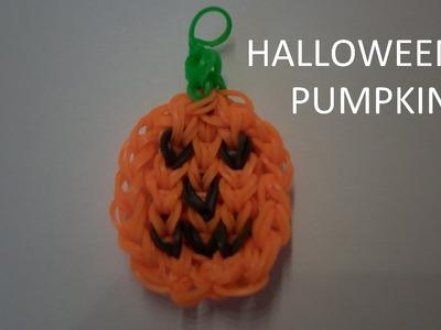 Rainbow loom Halloween pumpkin