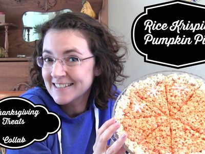 Rice Krispie's Pumpkin Pie | DIY Thanksgiving Treat Collab!