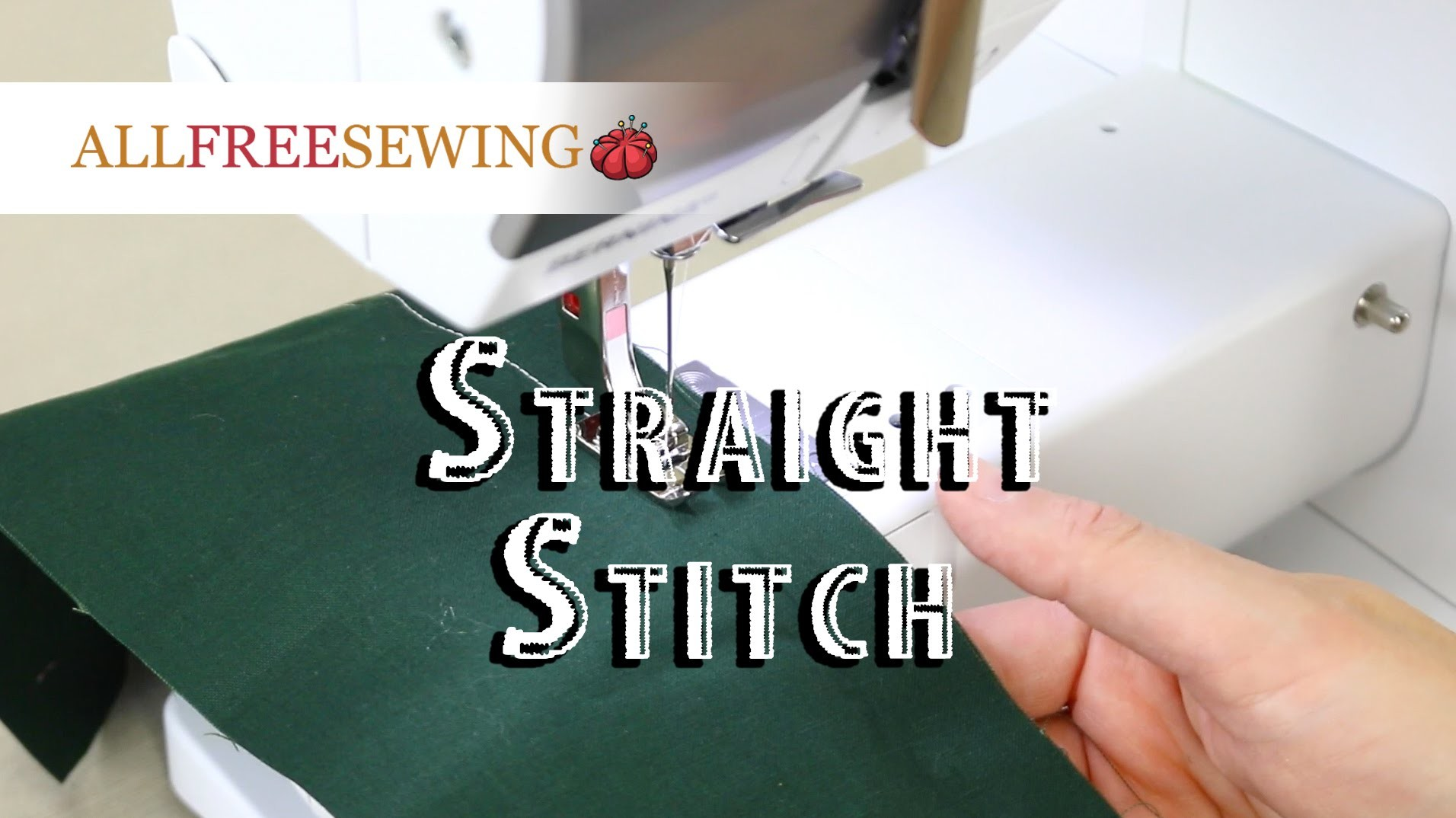Sewing 101: How To Straight Stitch