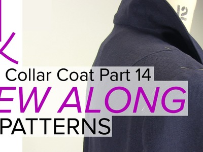 Sewing a Coat, A Sew Along. Part 14, Trim Sleeves Seams & Position Shoulder Pads