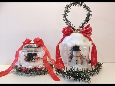 Tutorial Christmas Snow globe Ornament