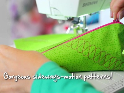 Tutorial: how to do multi-directional sewing with the BERNINA sideways motion foot no. 40