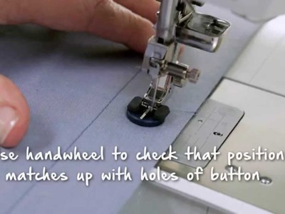 Tutorial on the BERNINA 790: Sewing buttonholes and sewing on buttons