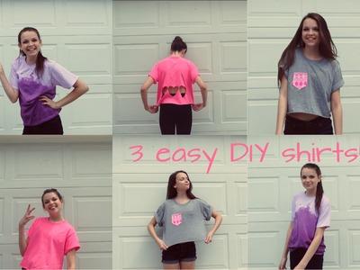 3 simple DIY shirts | KrazyKaylie2