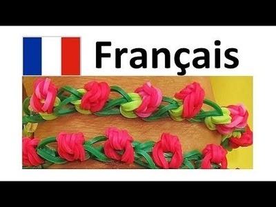 Bracelet Elastique Bouton de rose || Rainbow Loom Francais. Loom bands : Bracelet Elastique