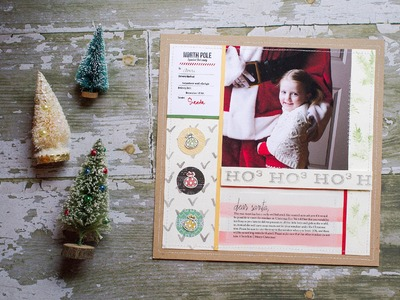 Christmas layout Tutorial