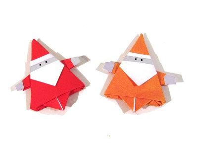Christmas Origami Santa Claus - How to make an easy origami Santa Claus