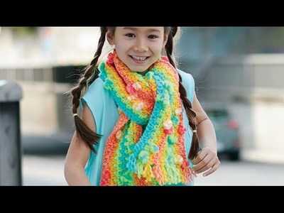 Crochet Rainbow Zapp Scarf Tutorial
