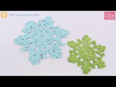 Crochet Twinkling Snowflake #1 Tutorial