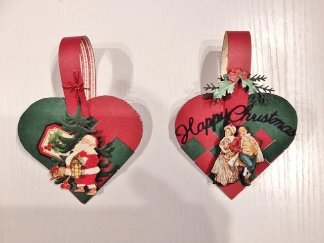 DIY Braided Christmas heart basket tutorial