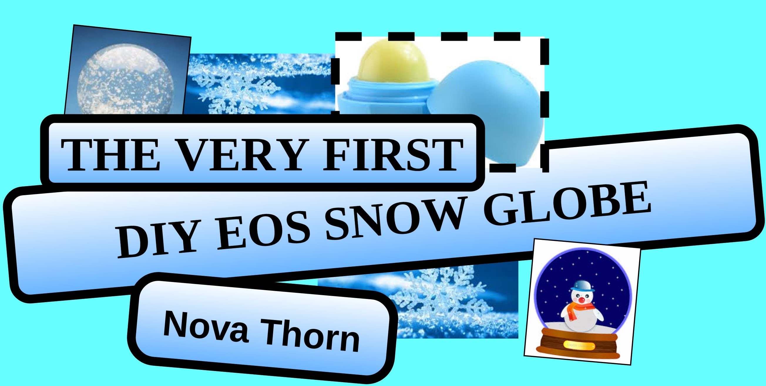 DIY EOS SNOW GLOBE
