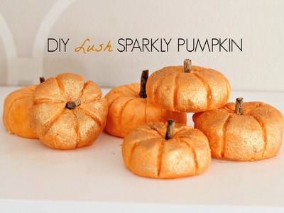 DIY LUSH Bubble Bar- SPARKLY PUMPKIN