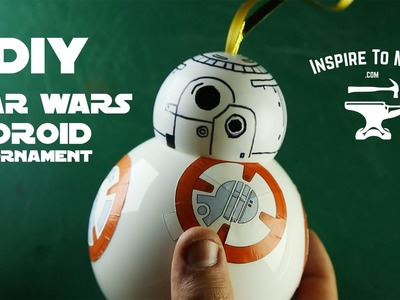 DIY Star Wars bb-8 droid Christmas Ornament