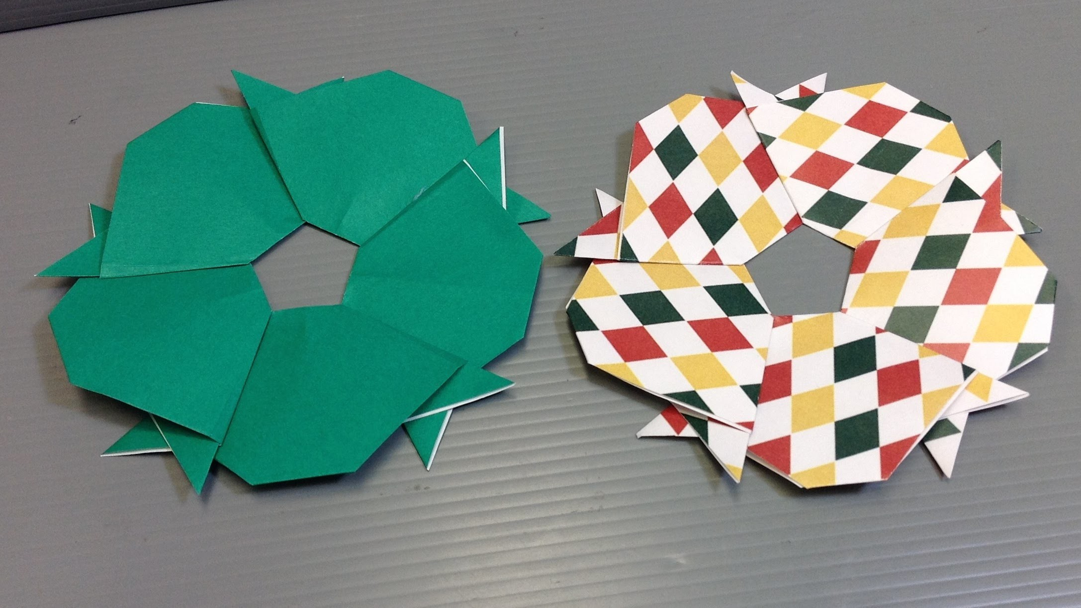 Easy Origami Dog Christmas Wreath