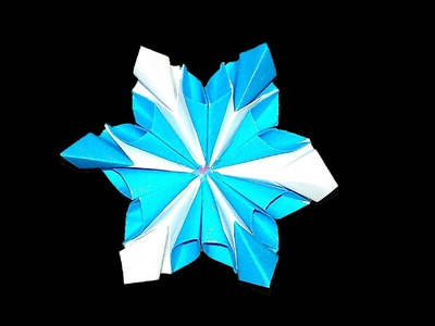Easy Origami flower. Christmas envelope decor. Designed by Sonsyadlo Zoryana. Origami snowflake