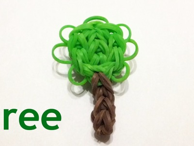 EASY Rainbow loom TREE charm | How to make loom bands