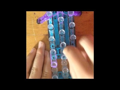 Evil purple minion rainbow loom