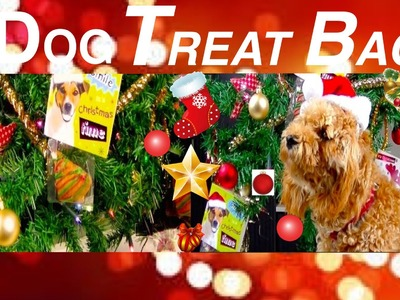 How to make CHRISTMAS DOG TREAT BAG - FESTIVE XMAS TREE GIFT BAG -  DIY Dog Food by Cooking For Dogs