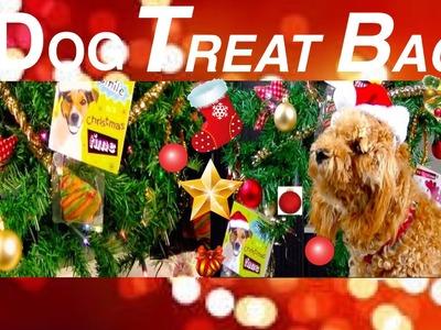 How to make CHRISTMAS DOG TREAT BAG - FESTIVE XMAS TREE GIFT BAG -  DIY Dog Food by Cooking For Dogs