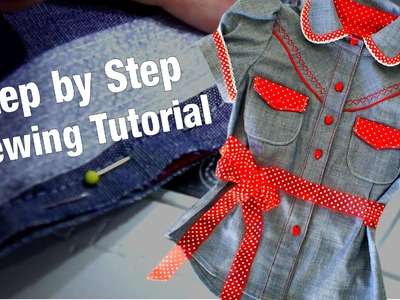 How to sew a Blouse - (Western Style) Step by Step Sewing Instructions