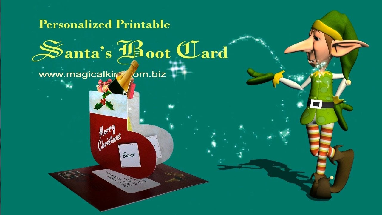 Making a Santa's Boot Christmas Card
