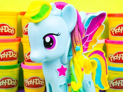 My Little Pony Play-Doh Rainbow Dash Style Salon MLP