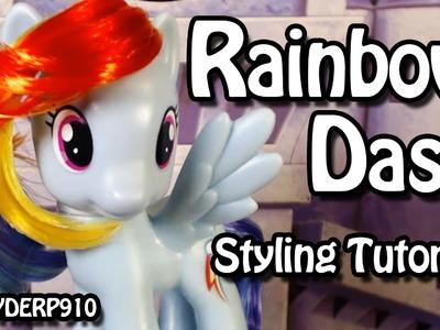 My Little Pony: Rainbow Dash Hair Styling Tutorial