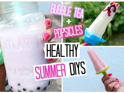 Quick & Easy Healthy Bubble Tea + 3 Popsicles Summer Recipes DIY | Laurie Martel