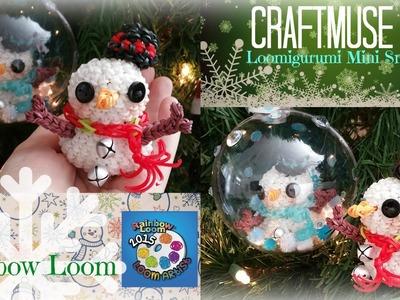 Rainbow Loom Loomigurumi Mini Snowman Ornament