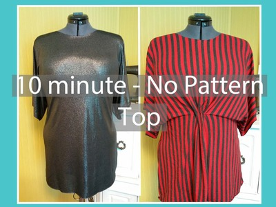 Sewing Minis (Ep6): No-Pattern, 10 Minute Summer Top
