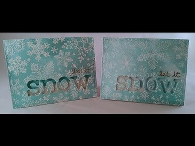Silvery Blue Christmas Cards