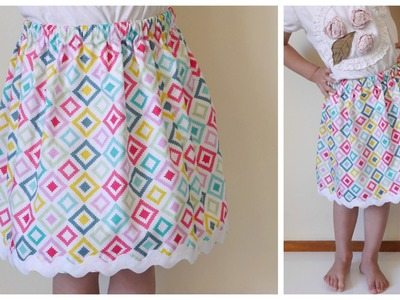 {Step-by-Step Sewing} Easiest Skirt EVER for ANY Size