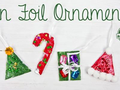 Tin Foil Christmas Ornaments for Kids