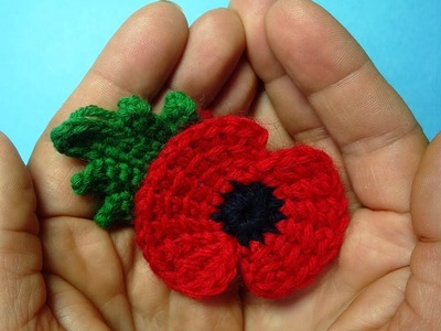 Traditional crochet poppy flower -  memory of First World War 11 november