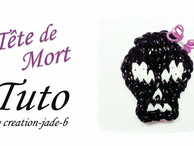 Tuto Rainbow Loom - Halloween Tête de Mort (Skull) !