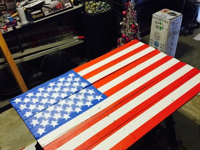 American Flag Pallet DIY Project