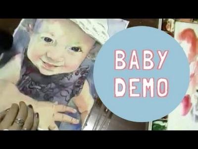 Baby Portrait watercolor painting demonstration schulmanArt