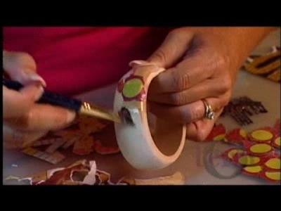 Decoupage Bangle Bracelet