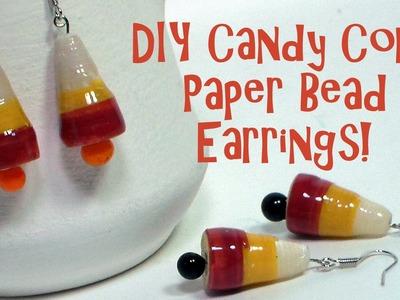 DIY Candy Corn Paper Bead Earrings!