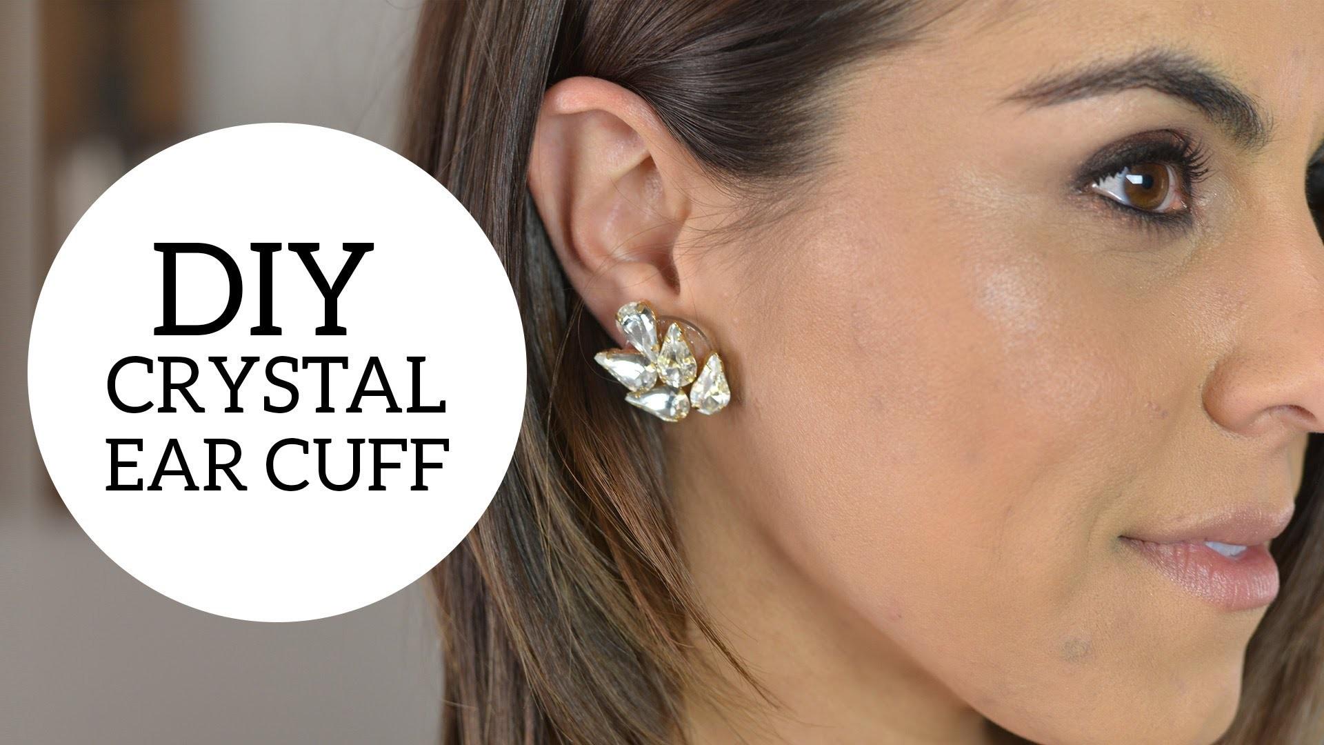DIY Crystal Ear Cuff
