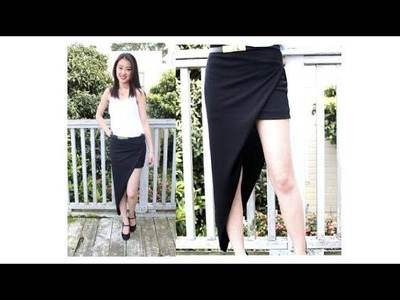 DIY; Draped Asymmetrical High Low Skirt