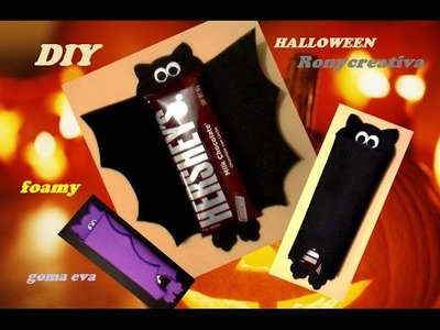 DIY: Murciélago con chocolate para HALLOWEEN. HALLOWEEN chocolate bat