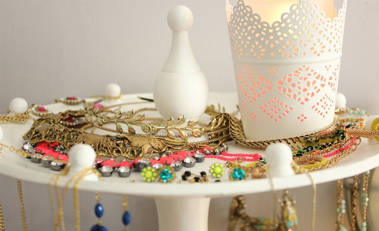 DIY | Necklace.Jewelry Stand.Display