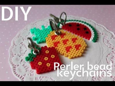 DIY: Perler bead fruit keychains